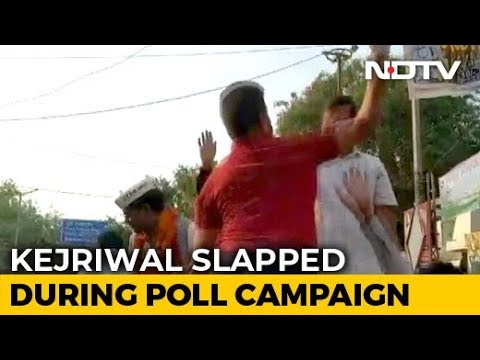 Chief Minister Arvind Kejriwal Slapped During Roadshow In Delhi