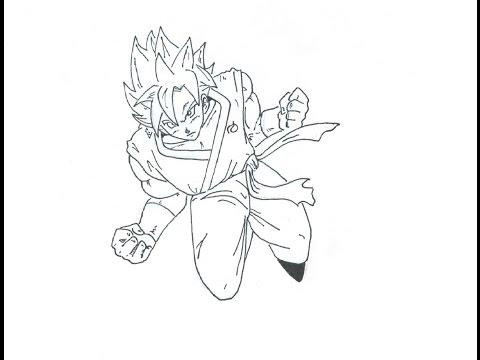 Como Dibujar A Goku Super Ssj Dios Dragon Ball Fukkatsu No F