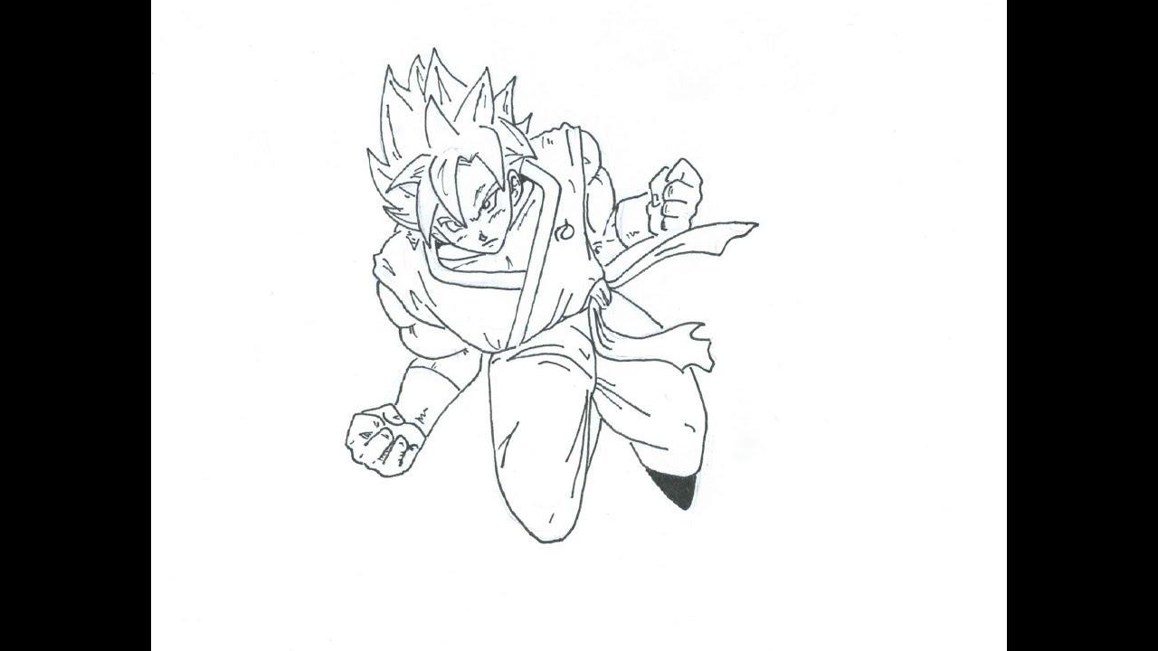 Golden Freezer Para Colorear: Como Dibujar A Goku Super SSJ Dios (Dragon Ball: Fukkatsu