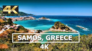 Samos island, Greece 4K Drone 2019
