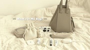 What's in My Bag? 베이지 덕후의 왓츠인마이백 | 로에베 해먹백 스몰 샌드, 르라보, 라부르켓, 쿠토, 드파운드, 수집미학, LUFF