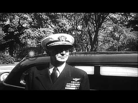 Harry S Truman joins office as the new President of the United States. HD Stock Footage
