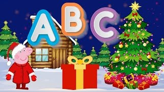 Christmas ABC (New Year alphabet for children) with Piggy