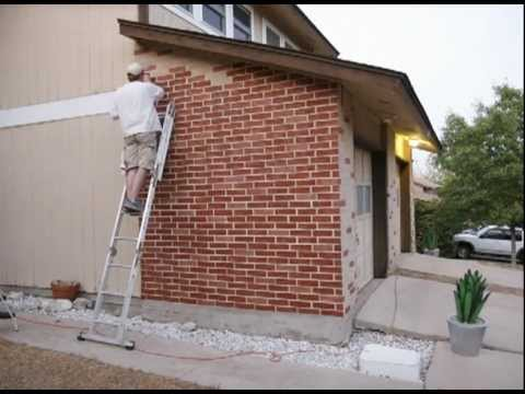 Painting bricks youtube for Can you use exterior paint inside a house