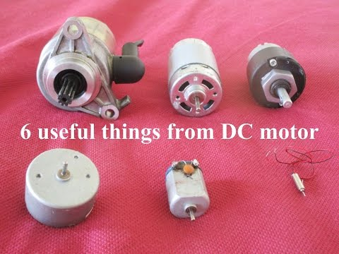 6 Useful things from DC motor - Compilation - YouTube