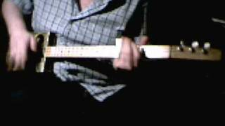 Slide Blues On A 3 String Cigar Box Guitar