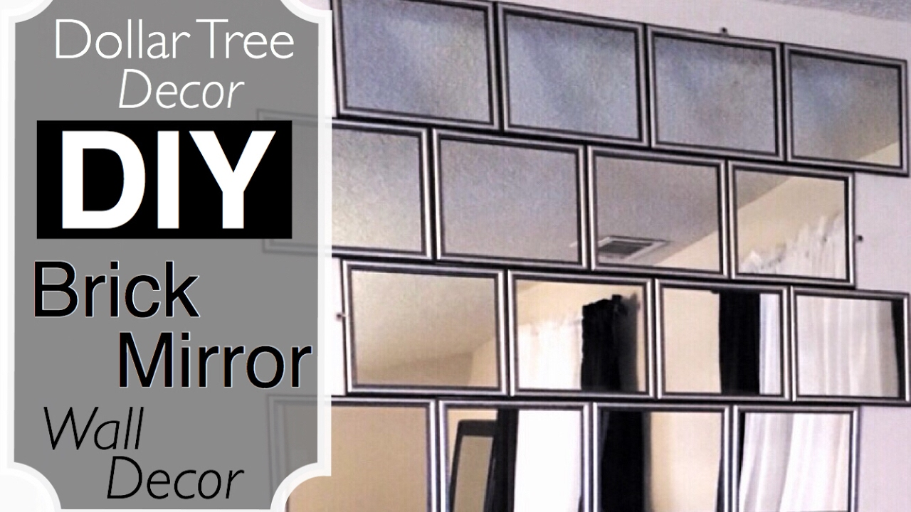 Dollar Tree Decor | DIY BRICK Mirror Wall Decor - YouTube