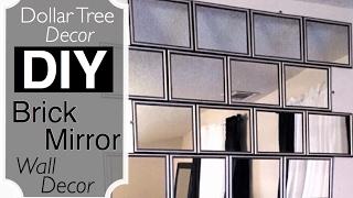 Dollar Tree Decor   DIY BRICK Mirror Wall Decor