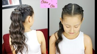 Camila Coelho Inspired Hairstyle | Braided Hairstyles | Easy Hairstyles | Curls | Waves