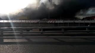 Пожар в Мякинино горит Синдика