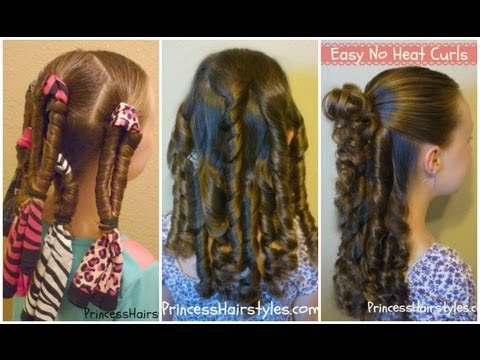 no heat curls bandana spirals youtube