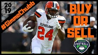 2019 Fantasy Football - Buy or Sell Nick Chubb ?  The Cleveland Browns #GimmeChubb
