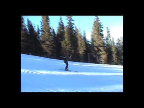 Breckenridge Colorado skiing blue slope - funny!