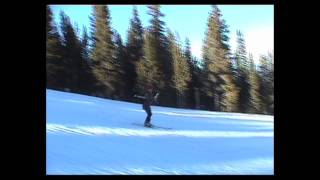 Breckenridge Colorado skiing blue slope - funny!