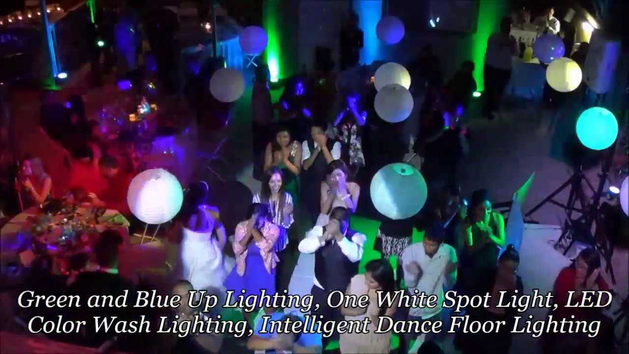Wedding Lighting Demo Color Wash Lighting Spot Light