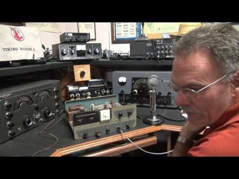 WRL Globe Chief Deluxe 807 Transmitter CW transmitter repair on air demo