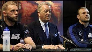 BILLY JOE SAUNDERS (OFFICIAL) POST-FIGHT PRESS CONFERENCE w/ FRANK WARREN & BEN DAVISON @ STEVENAGE
