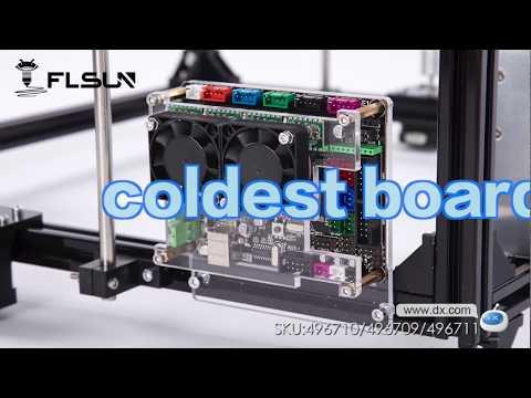 Flsun 3D Printer DIY Kit Auto Leveling Cube Full Metal Square Large Printing