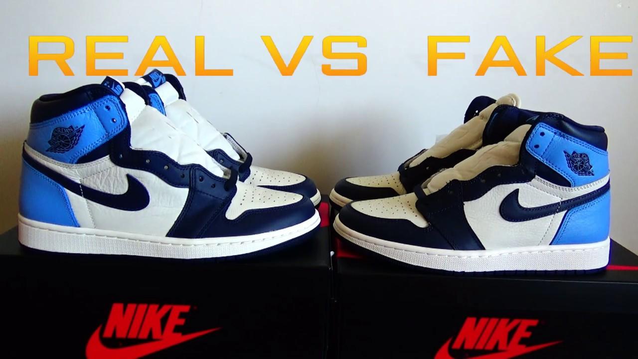 REAL VS FAKE Air Jordan 1 Retro High OG