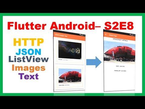 Flutter Widgets → Flutter HTTP JSON ListView MasterDetail Images