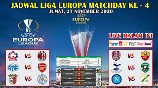 Jadwal Liga Europa Malam Ini Live SCTV ~ Lille VS AC Milan UEFA Europa League 2020/2021