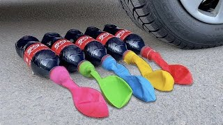 Crushing Crunchy & Soft Things by Car! EXPERIMENT: Car vs Coca Cola with Balloons