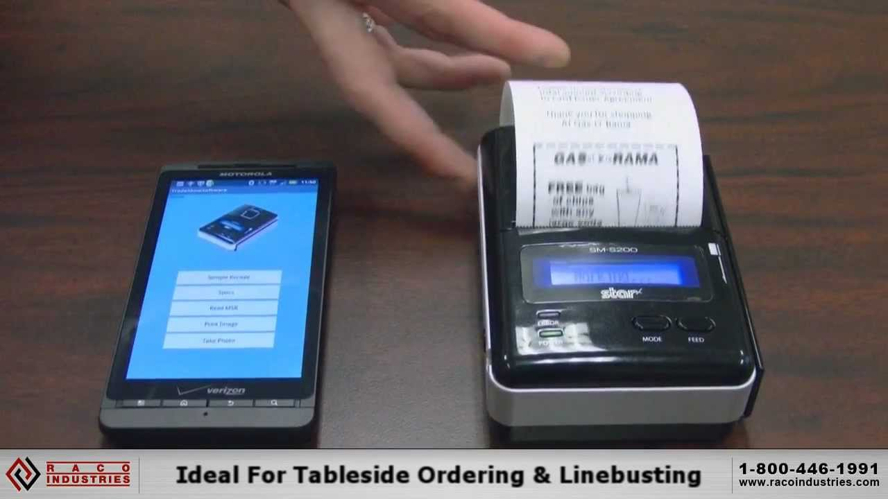 Camera Printing From Android Phone printing receipts from an android phone with star micronics sm s200 portable printer