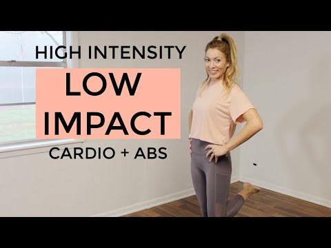 HILIT Workout || 20 MIN - High Intensity Low Impact || Cardio + Abs