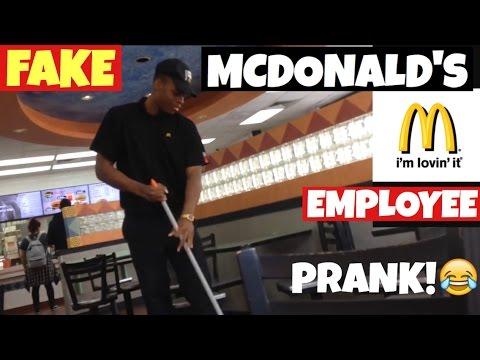 FAKE MCDONALDS EMPLOYEE PRANK - YouTube