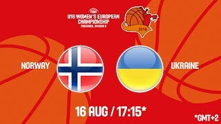 LIVE 🔴 - Norway v Ukraine - FIBA U16 Women