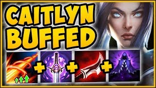 UNBEATABLE STRATEGY! BUFFED SNIPER CAITLYN ULTIMATE ONE SHOT FULL LETHALITY BUILD! League of Legends