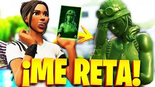 CHICA GAMER CHALLENGES ME FOR THE NEW SKIN OF TOY SOLDIER in FORTNITE!.. 🔥😱