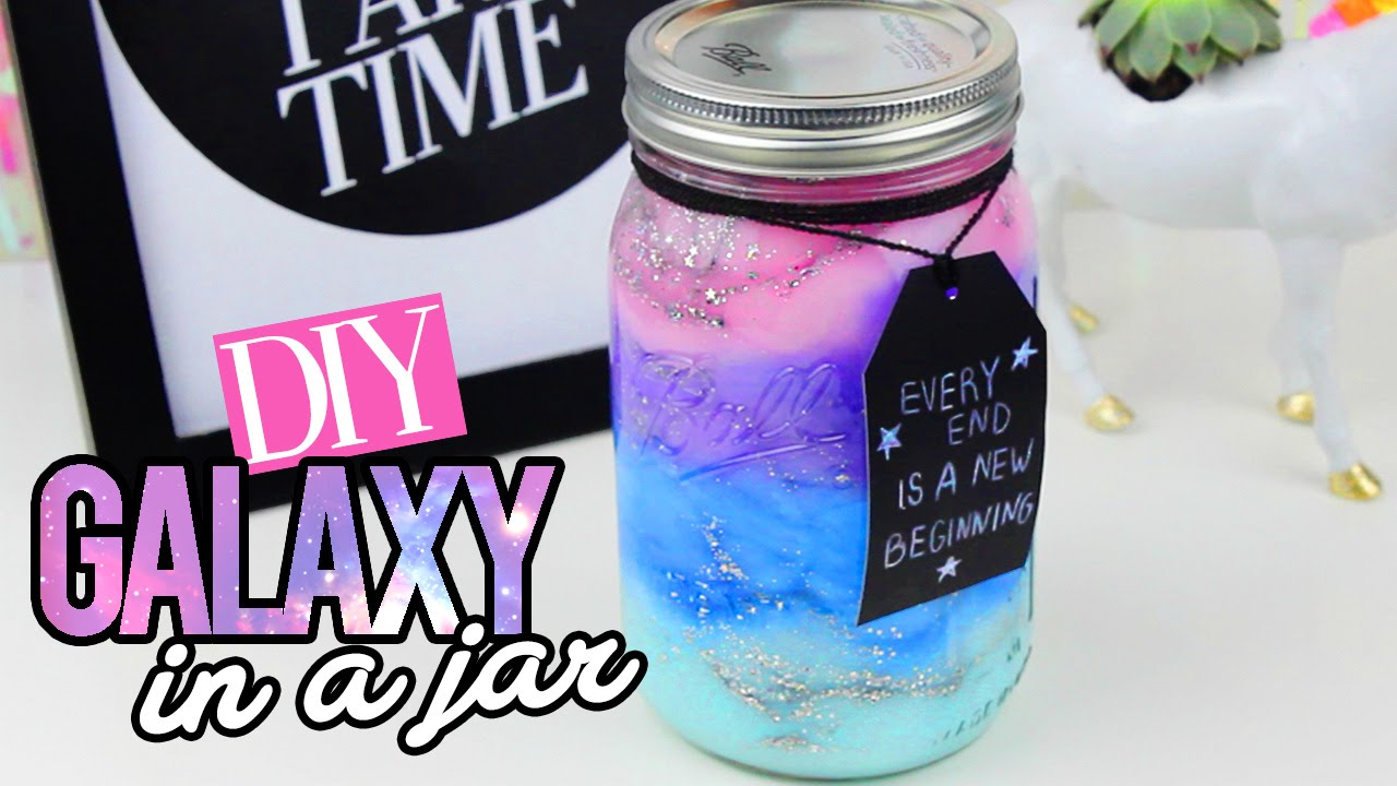Diy Galaxy In A Jar Youtube