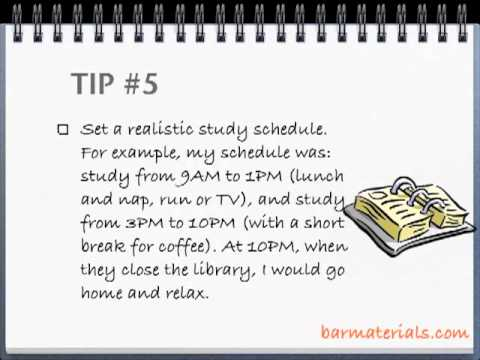 Studying for the bar exam - 10 tips
