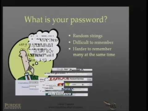 2007-04-25 CERIAS - Passwords Decay, Words Endure: Towards Secure and Re-usable Multiple Password...