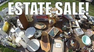 Estate Sale Treasure Hunting - Pyrex + Clothes + Tools