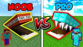 Minecraft NOOB vs. PRO HIDDEN TRAP in Minecraft