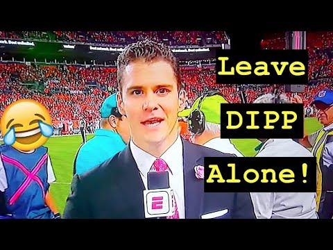 LEAVE SERGIO DIPP ALONNNNNNE!!! ESPN Sideline Reporter Does A Masterful Job On Monday Night Football
