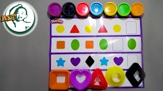 Learn shapes,colors and pattern for kids with Play-Doh Shape & Learn