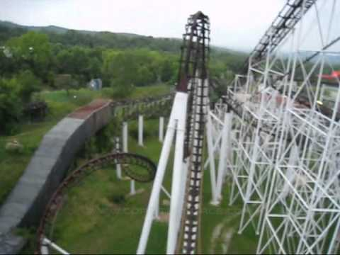 ninja front seat on ride pov six flags st louis youtube