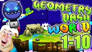 Geometry Dash WORLD ALL LEVELS 1-10 / DEMON KEY TREASURE ROOM / DIAMOND VAULT / EXTRAS