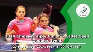 Table Tennis: 2014 Chinese Taipei Junior & Cadet Open (Doubles Event)