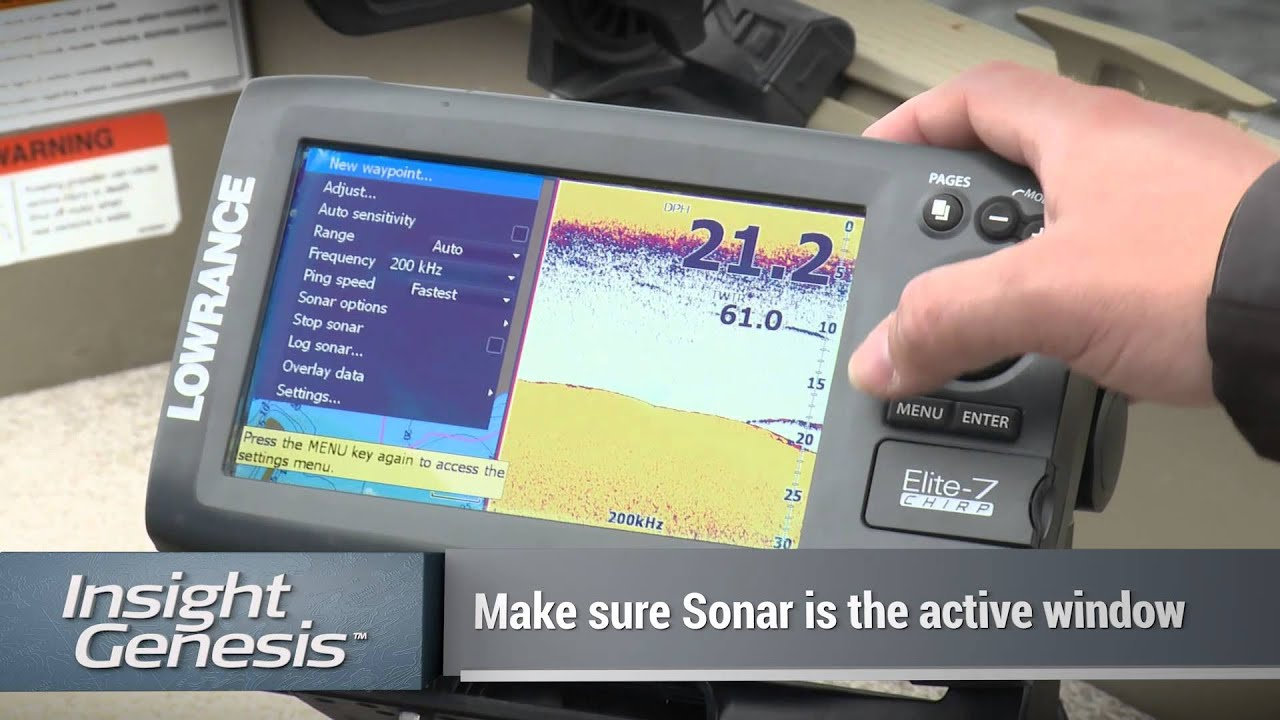Insight Genesis maps now display in blue-scale on Lowrance Elite