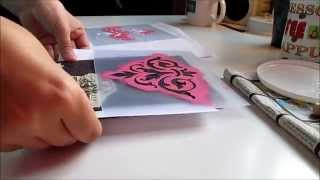 Scrapbooking in real time using wrapping paper and homemade stencils (No talking)