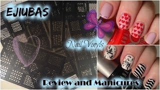 Ejiubas Nail Vinyls Review, Discount Codes and Manicures