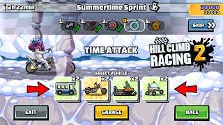 HILL CLIMB RACING 2 - 50000 POINTS SUMMERTIME SPRINT GAMEPLAY