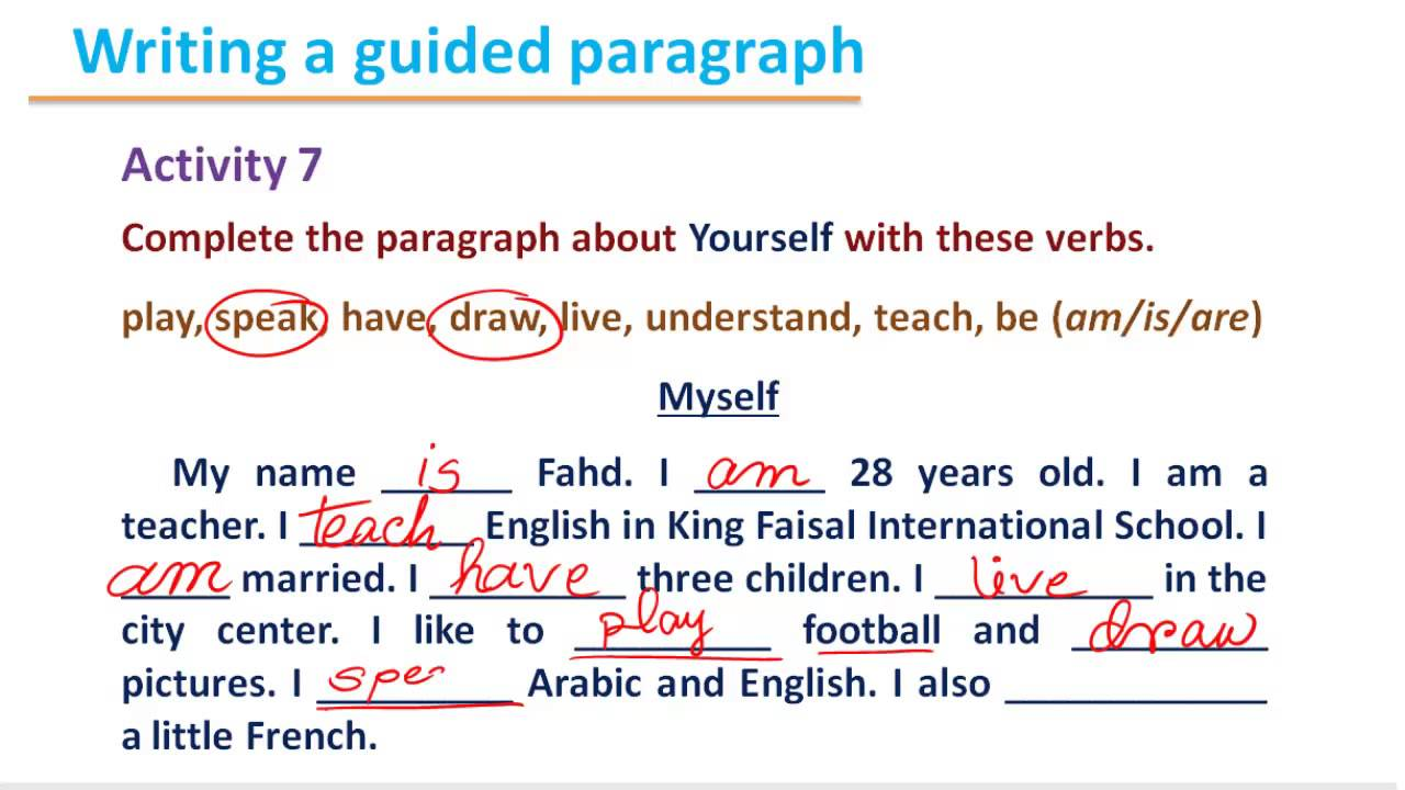 How to write a self introduction essay