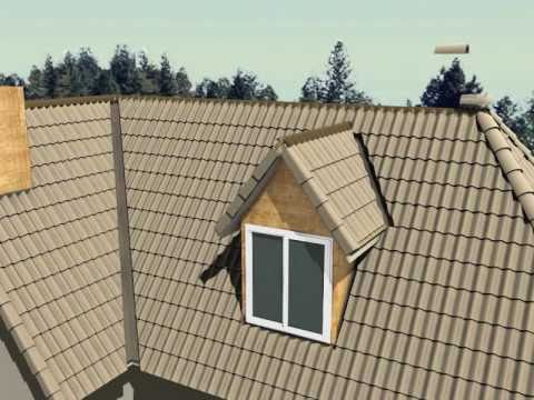 How to Install Concrete Roof Tile (Animated)