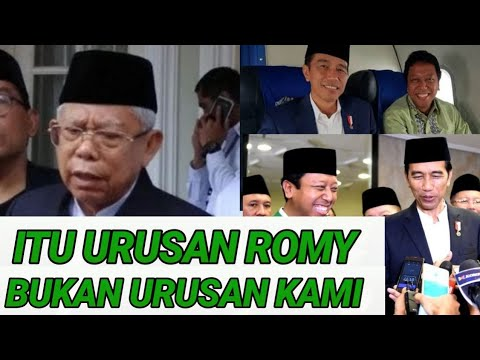 ROMY DI OTT KPK, KYAI MA'RUF BUKA SUARA;CAWAPRES JOKOWI;PILPRES 2019;PRABOWO SANDIAGA UNO;JOKOWI