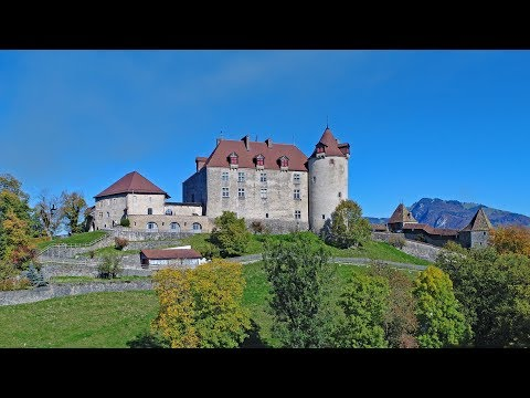 Gruyères Castle, Switzerland - Autumn 2017 - DJI Phantom 4 Pro